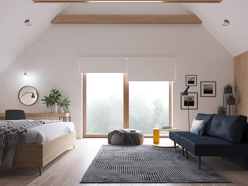 Bằng cách chọn nội thất gọn nhẹ, đơn giản, chủ nhân dễ dàng thay đổi cách bài trí căn phòng theo sở thích