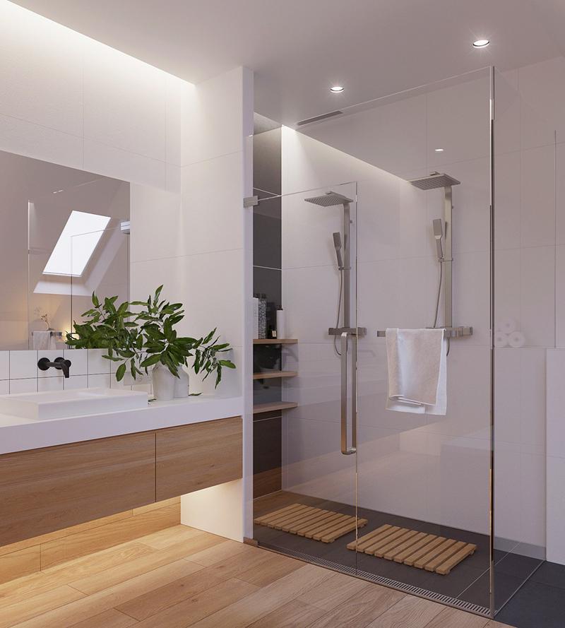 Sàn gỗ luôn là một sự bổ sung thú vị và thoải mái cho bất kỳ phòng tắm nào