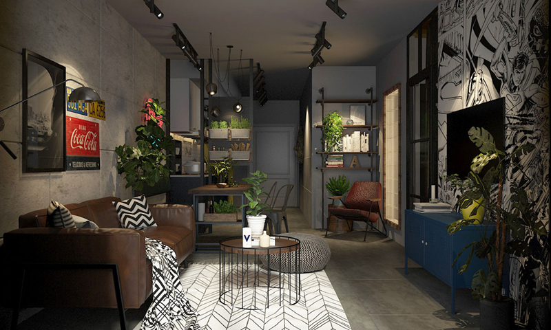 Thiết kế căn hộ lấy bối cảnh trong một bộ truyện tranh của Nhật Bản