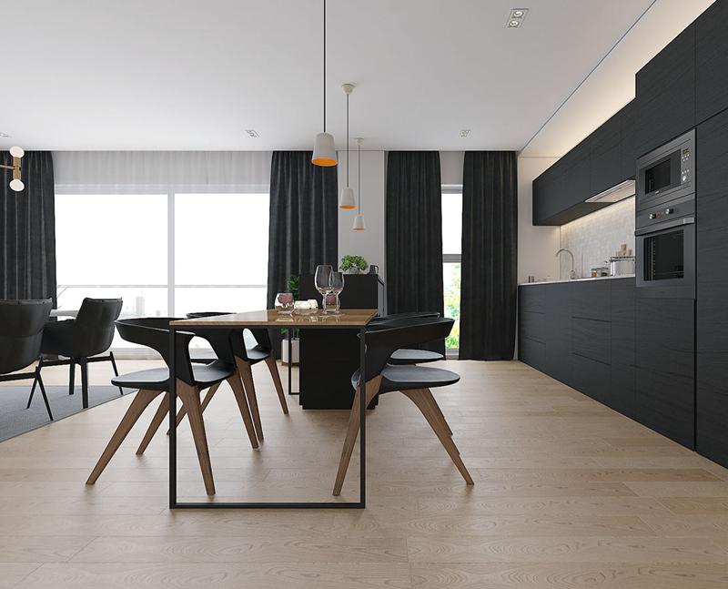 Một chiếc bàn phụ dùng để ăn sáng, làm việc hoặc trò chuyện khi có khách tới thăm nhà.