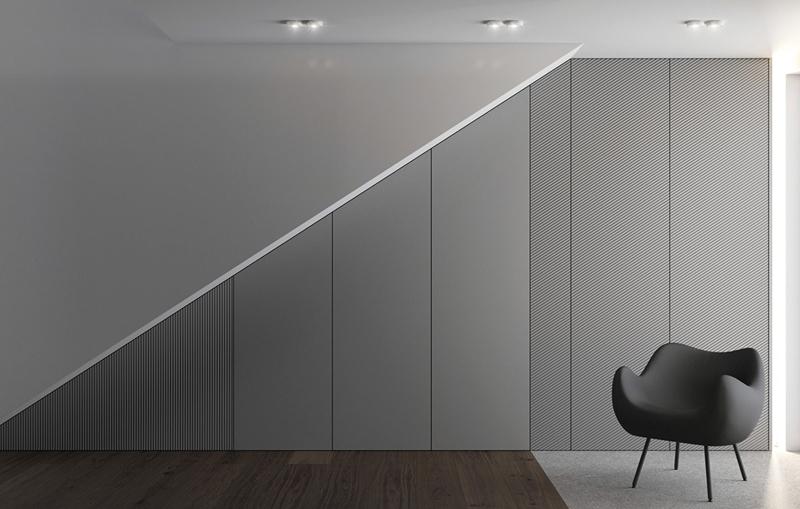 Tủ lưu trữ âm tường nhằm tối đa hóa diện tích