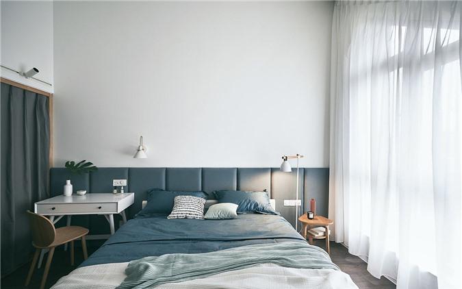 Tường đầu giường chần cho phòng ngủ hiện đại màu trắng