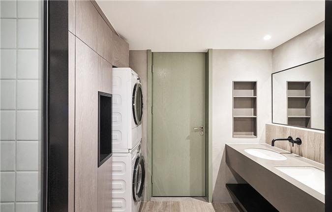 Kết hợp giặt ủi và thiết kế phòng tắm để tiết kiệm không gian