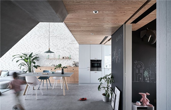 Thiết kế bếp ốp tường đơn cho căn hộ nhỏ hiện đại