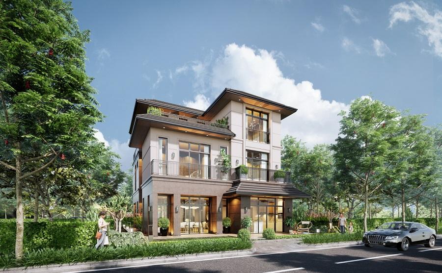 Phân khu 1.1 gồm biệt thự, nhà phố, shophouse với những tiện nghi, tiện ích cao cấp