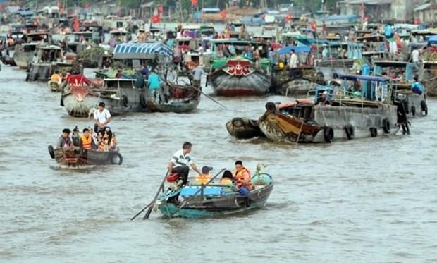 Chợ nổi Cái Răng. (Nguồn: vietnamtourism.gov.vn)