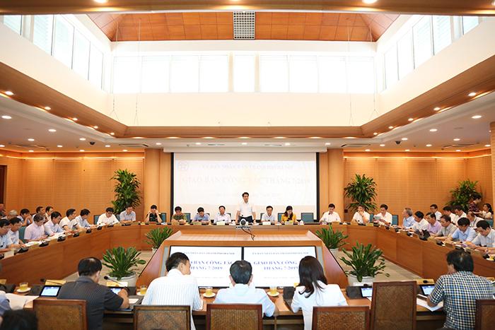 Hội nghị giao ban công tác tháng 7/2019 của UBND thành phố Hà Nội sáng 31/7