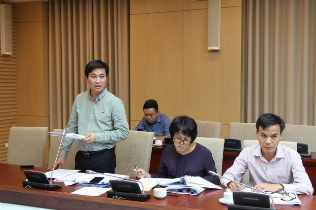 Cục trưởng Cục Phát triển đô thị Nguyễn Tường Văn đã báo cáo Dự thảo quy hoạch hệ thống đô thị và nông thôn quốc gia