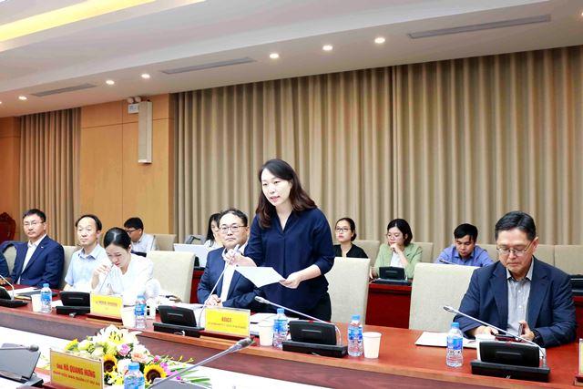 Phó Giám đốc KOICA Việt Nam Jeong Min Kim phát biểu tại Hội thảo