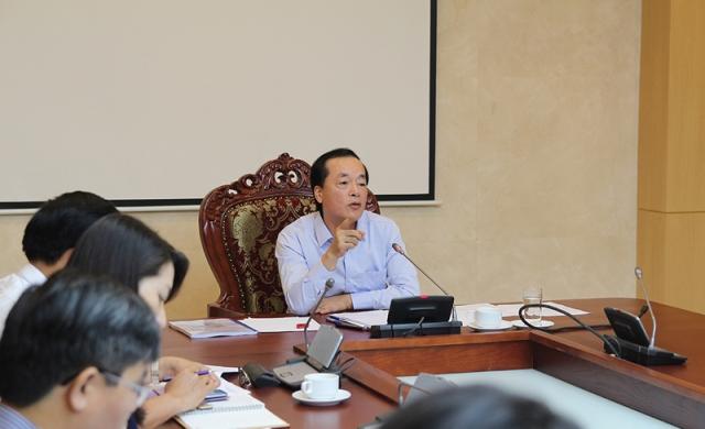 Bộ trưởng Bộ Xây dựng Phạm Hồng Hà đã chủ trì cuộc họp