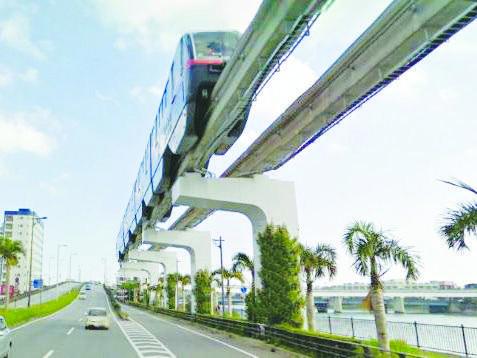 Monorail ở Okinawa, minh họa cho tương lai Monorail tuyến Tân Sơn Nhất - Bến Thành Monorail, đoạn qua một bên kênh Nhiêu Lộc - Thị Nghè