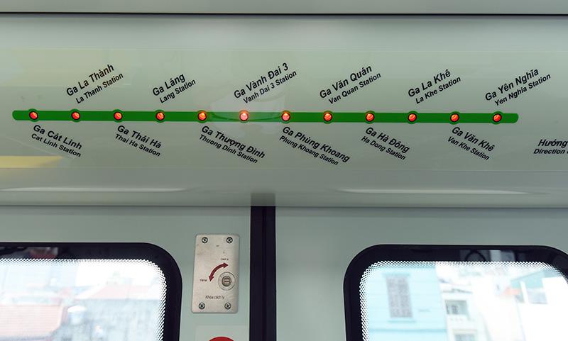Tuyến đường sắt Cát Linh - Hà Đông có chiều dài 13,1 km, bắt đầu ở ga Cát Linh, kết thúc ở ga Yên Nghĩa. (Ảnh minh hoạ)