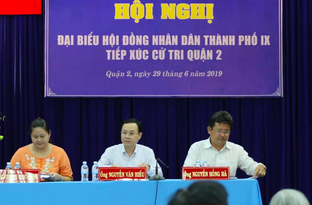 HĐND TP.HCM tiếp xúc cử tri quận 2 sau kết luận Thanh tra Chính Phủ về Thủ Thiêm