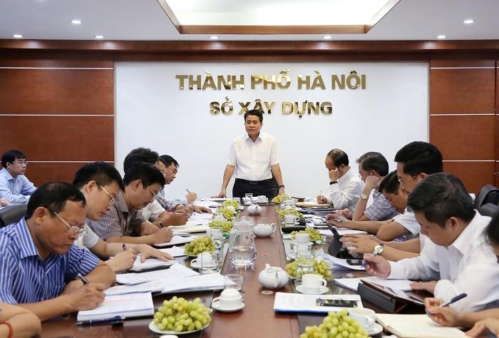 Chủ tịch UBND thành phố Hà Nội Nguyễn Đức Chung phát biểu kết luận buổi làm việc