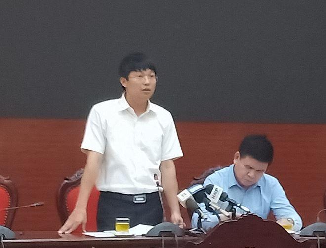 Ông Trần Việt Hà thông tin tại buổi giao ban báo chí