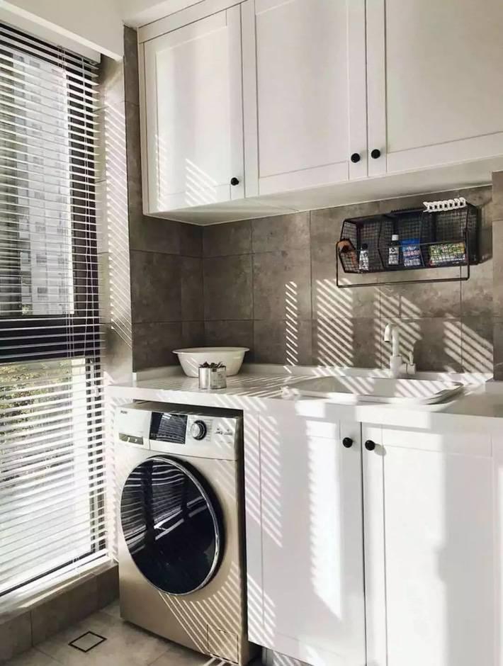 Một khoảng không diện tích nhỏ được tận dụng là khu vực giặt là