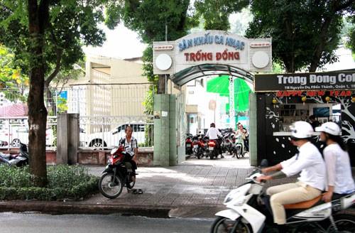 Sân khấu Trống Đồng (quận 1, TP HCM) - nơi sẽ xây dựng bãi đậu xe ngầm Trống Đồng Ảnh: GIA MINH