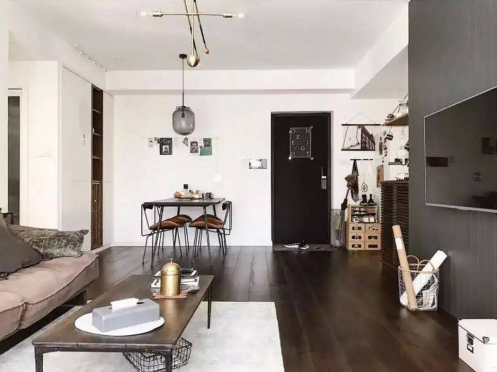 Thiết kế cơ bản nhưng cách phối màu và chất liệu đồ nội thất vẫn dư sức đem lại nét hiện đại, sang chảnh cho nội thất