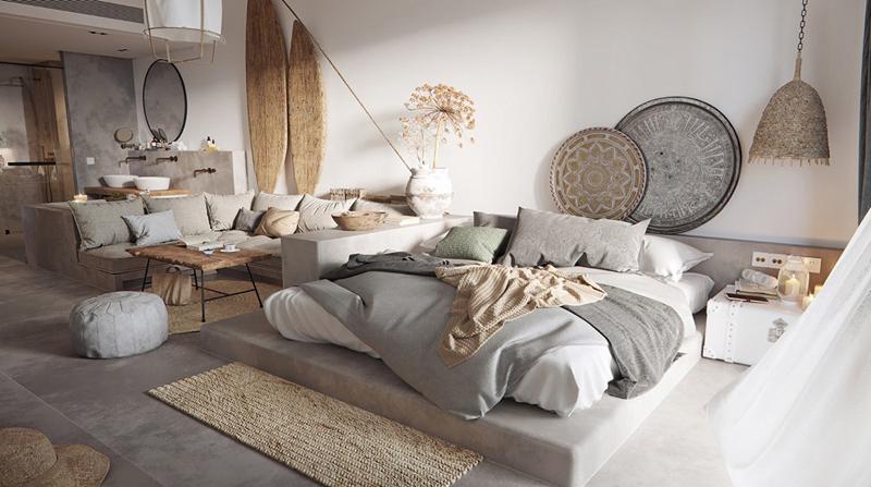 Phòng ngủ mang phong cách du mục