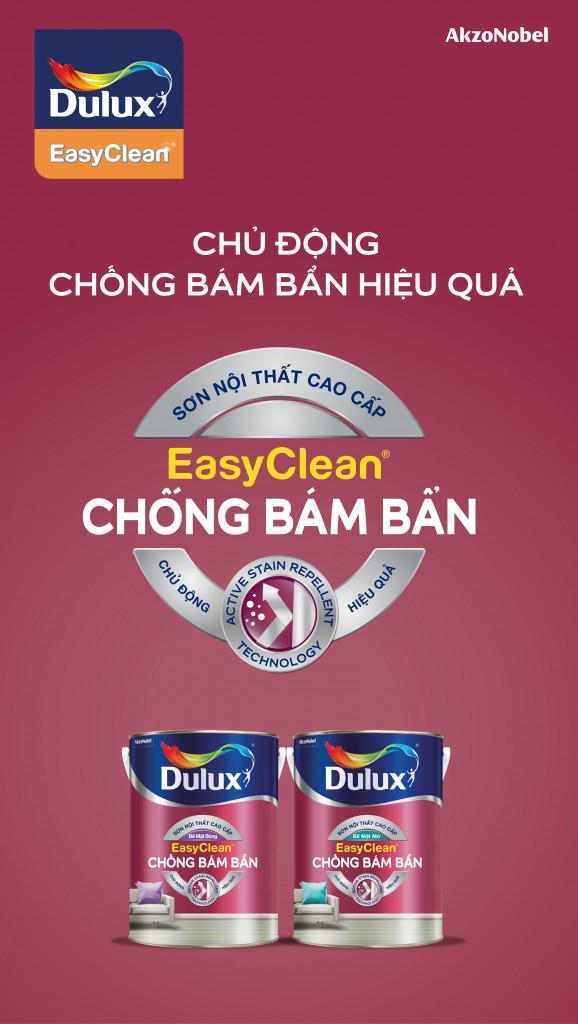 Dulux EasyClean Chống Bám Bẩn là lựa chọn hàng đầu cho các gia đình trong việc bảo vệ màu sơn tường luôn mới đẹp