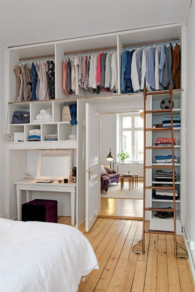 Nếu có quá nhiều quần áo, bạn có thể thử sáng tạo theo cách này.