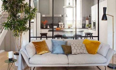 4 gợi ý xây vách ngăn phòng khách