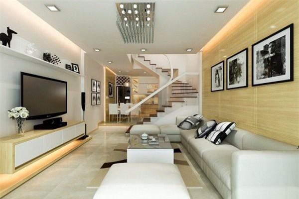 Vách ngăn phòng khách giúp tăng sự giao thoa giữa hai căn phòng. (Ảnh minh họa)