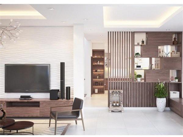 Vách ngăn gỗ thường được thiết kế từ chất liệu tự nhiên như xoan đào, gỗ sồi,... (Ảnh minh họa)