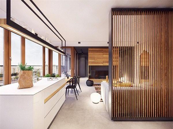 Với chất liệu gỗ tự nhiên, gia chủ có thể thoải mái thiết kế, điêu khắc theo ý mình mà không lo bị vỡ, cong hay mối mọt.