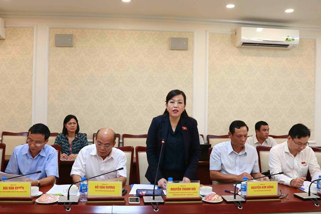 Trưởng Ban Dân nguyện Quốc Hội Nguyễn Thanh Hải phát biểu tại buổi làm việc