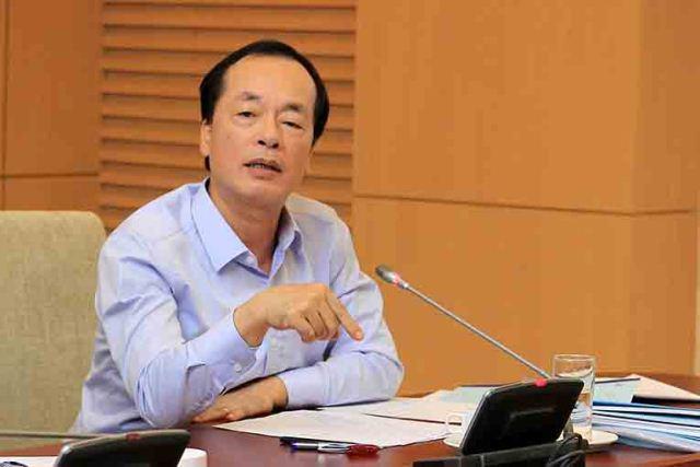 Bộ trưởng Phạm Hồng Hà phát biểu chỉ đạo tại cuộc họp