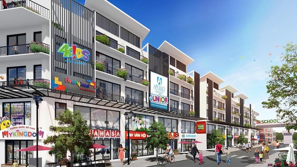 Town 2, Town 3 và Town 4 được quy hoạch trở thành tiểu khu sôi động nhất dự án Khai Sơn Town