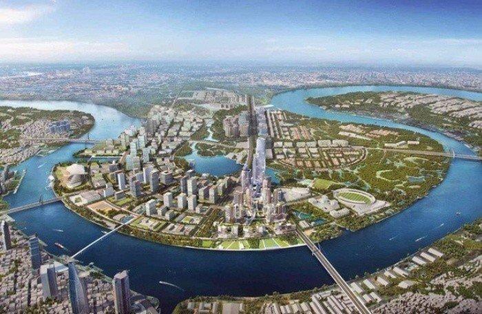 Khu đô thị Thủ Thiêm nhìn từ trên cao