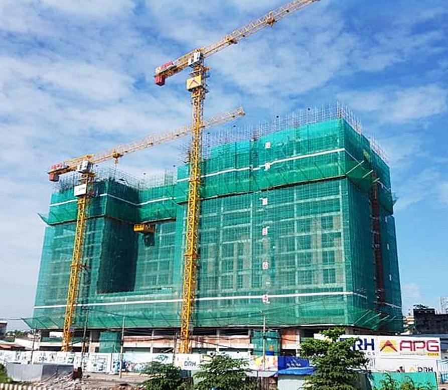 Dự án đang thi công để bàn giao nhà vào quý 2/2020