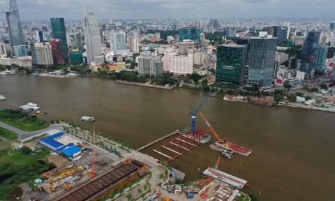 TPHCM xây cầu đi bộ vượt sông Sài Gòn nối quận 1 và Thủ Thiêm