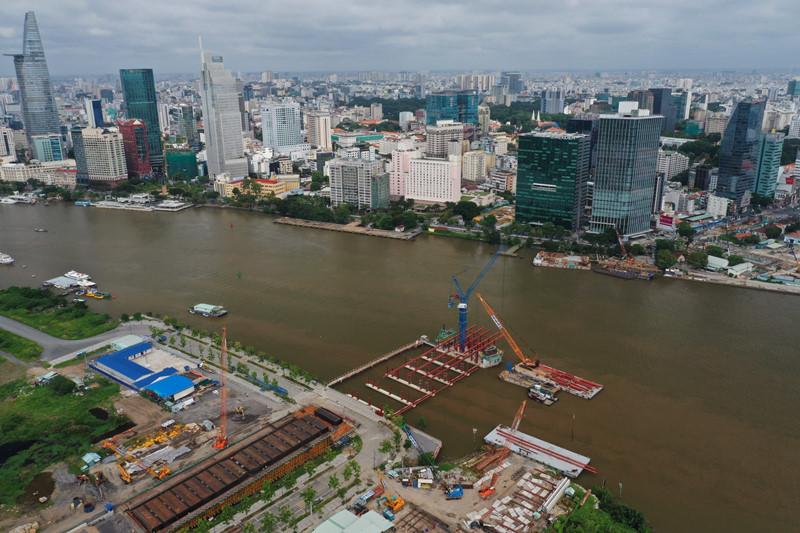 TP HCM sẽ xây cầu đi bộ vượt sông Sài Gòn nối quận 1 và Thủ Thiêm