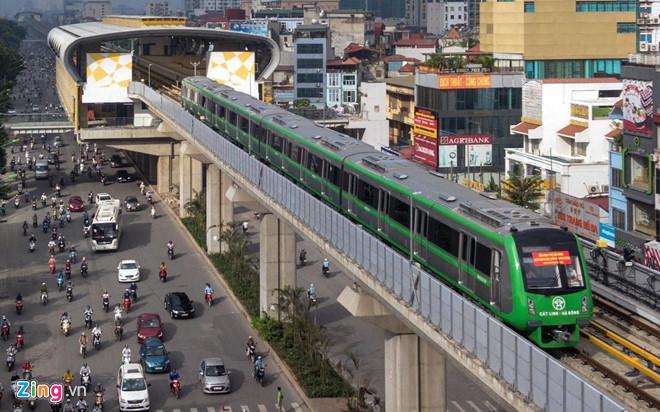 Dự án đường sắt Cát Linh - Hà Đông có tổng mức đầu tư dự kiến 8.770 tỷ đồng đã bị đội lên thành 18.000 tỷ đồng (tăng 9.231,6 tỷ đồng). Ảnh: Việt Linh.