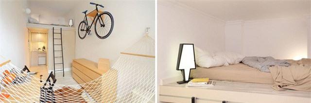 Ngoài những chức năng lưu trữ cần được chú ý như tủ, kệ... bạn cũng nên quan tâm đến ánh sáng và gam màu sử dụng cho tường và đồ nội thất. Một phòng ngủ nhỏ nên sử dụng các gam màu sáng, đặc biệt là màu trắng để ăn gian diện tích và giúp không gian rộng rãi, thoáng mát hơn.