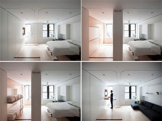 Ba phòng ngủ trong một nhờ thiết kế đa năng và thông minh đến từ các kiến trúc sư có tiếng.