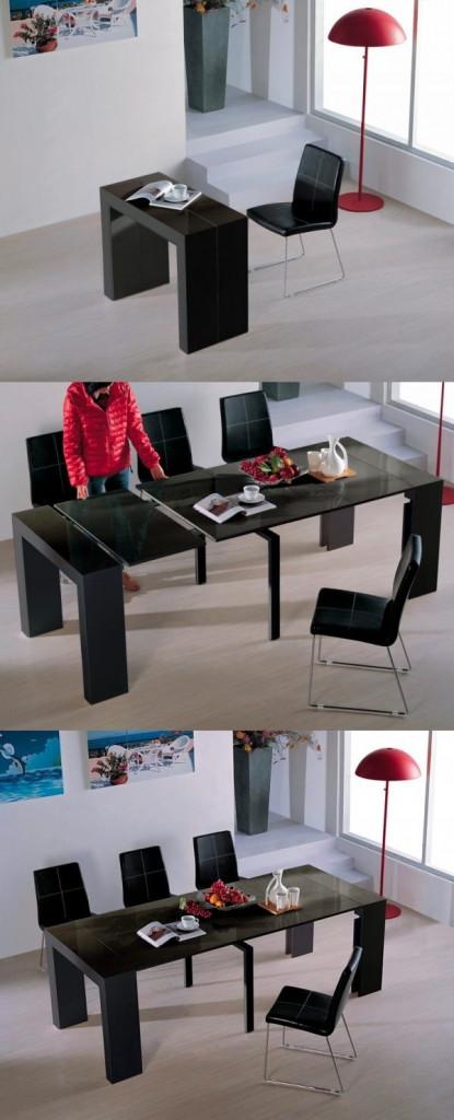 Chiếc bàn có thể là một chiếc bàn làm việc nho nhỏ và cũng có thể trở thành một chiếc bàn tiệc sang trọng khi cần thiết