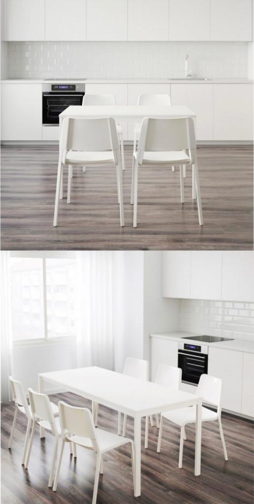 Đây có thể là chiếc bàn phù hợp với 4 ghế hoặc 6 ghế tùy theo nhu cầu sử dụng của gia chủ