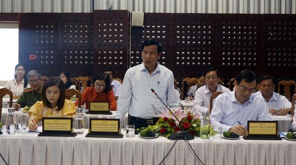 Bộ trưởng Nguyễn Ngọc Thiện phát biểu tại buổi làm việc