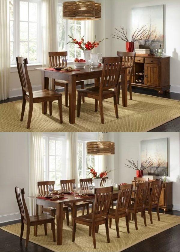 Chắc chắn bạn sẽ không thể ngờ rằng chiếc bàn này có thể trở nên rộng và dài đến thế!