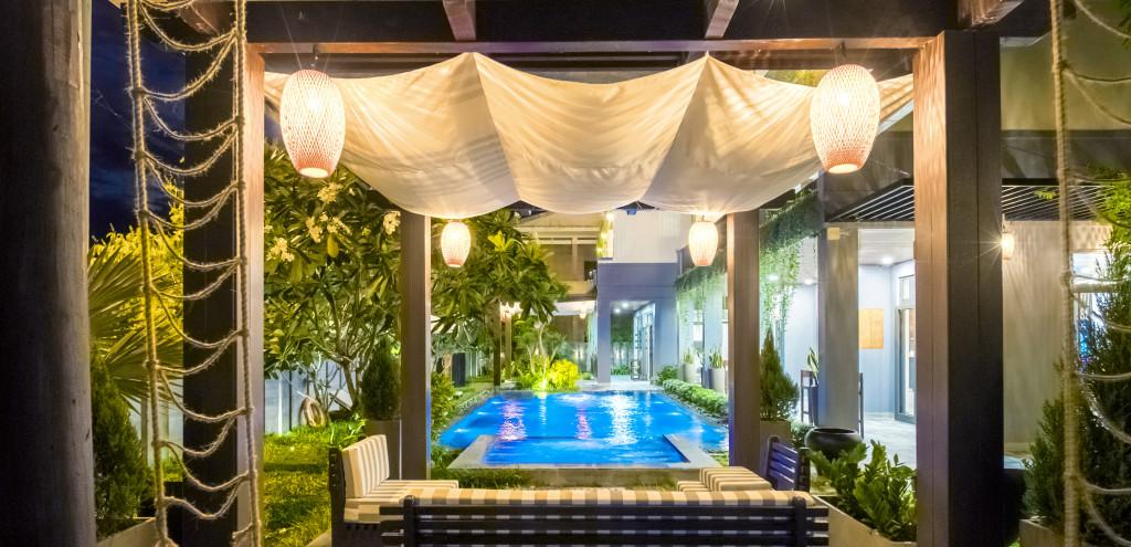 Không gian bể bơi Villa Đại An Phú
