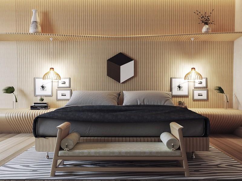 Phòng ngủ mang đến giấc ngủ yên bình và thư giãn. Căn phòng thích hợp với những người yêu thích sự bình dị và đơn giản.