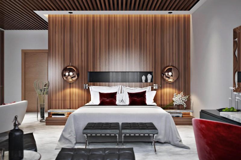 Nội thất phòng ngủ được sắp xếp cân đối và hài hòa, đây thường là sự lựa chọn của những chủ nhân có tính khéo léo và tỉ mỉ