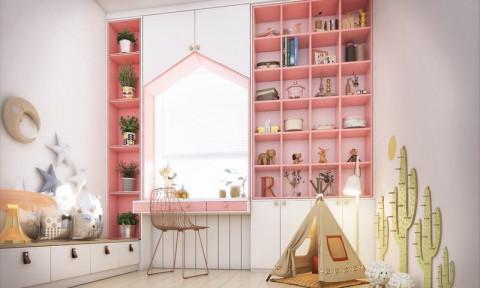 Ấn tượng với không gian căn phòng đẹp mắt, sáng sủa cho trẻ