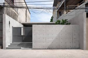 Nhà Duyên Hà – Tạo ranh giới bằng tường bê tông lạ mắt