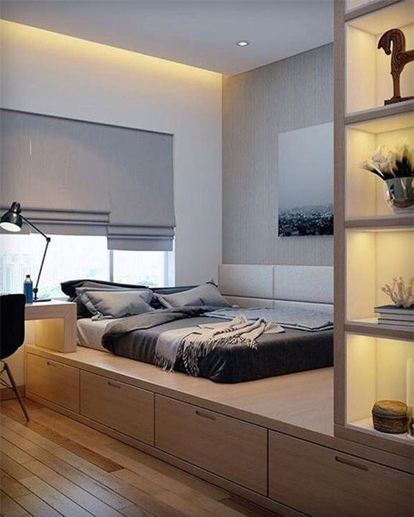 Phòng ngủ hiện đại kết hợp đọc sách
