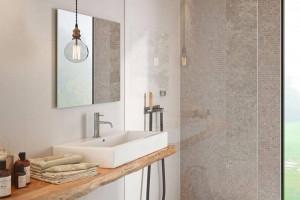 Phòng tắm nhỏ gọn giúp căn hộ thêm diện tích